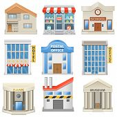 stock photo of school building  - Building Icons including house - JPG