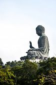 foto of lantau island  - Tian Tan Giant Buddha of Po Lin Monastery Landmark on Lantau Island Hong Kong - JPG