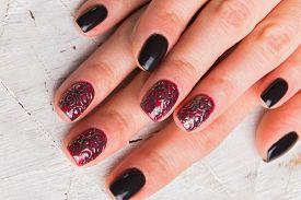 pic of nail paint  - Beautiful manicure nails - JPG