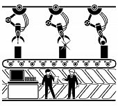 foto of hydraulics  - Robotic production conveyor line - JPG