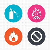 foto of fire extinguishers  - Circle buttons - JPG