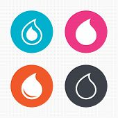 picture of drop oil  - Circle buttons - JPG