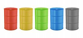 foto of toxic substance  - Metal Barrels for Oil Toxic Chemical and Other is Paper Cut Design - JPG