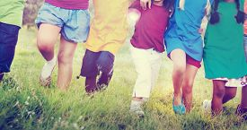 stock photo of children group  - Children Friendship Togetherness Smiling Happiness Concept - JPG