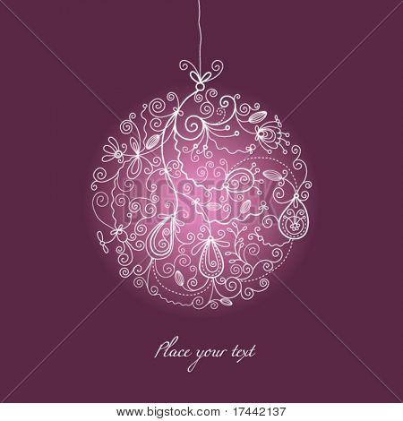Постер, плакат: Рождественский бал Украшения, холст на подрамнике