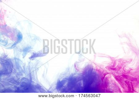 Colors Dropped Into Liquid And
