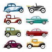 Постер, плакат: старые автомобили вектор