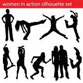 foto of exaltation  - high quality dancing women silhouette - JPG