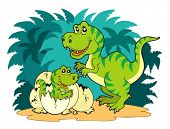 picture of dinosaur-eggs  - Tyrannosaurus rex family  - JPG