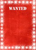 stock photo of buckaroo  - Red vintage poster in star light style - JPG