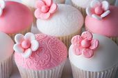 stock photo of ice-cake  - Wedding cupcakes - JPG
