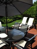 Patio Furniture In Backyard