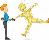 foto of prank  - Illustration of a Man Pulling an Electric Handshake Prank - JPG