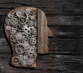 brain function, psychology, memory or mental activity concept 3d illustration poster