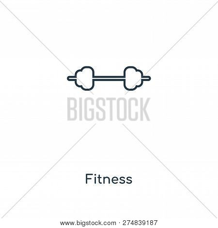 poster of Fitness Icon In Trendy Design Style. Fitness Icon Isolated On White Background. Fitness Vector Icon