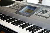 picture of musical instruments  - Electronic Keyboard musical instrument for clubs and domestic reproduction of music - JPG