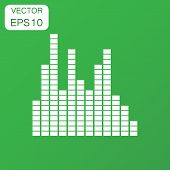 Vector Sound Waveform Icon. Business Concept Sound Waves And Mus poster