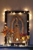 picture of guadalupe  - Altar dedicated to the Virgin of Guadalupe - JPG