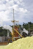 picture of biogas  - Steam Rises From A Smokestack On a Factory - JPG