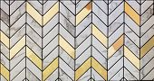 White Marble Tiles Mixed With Gold Material Pattern Surface Texture. Close-up Of Interior Material F poster