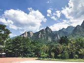 Beautiful Mountains In Seoraksan National Park. Summer. South Korea poster