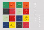Melatonin Hormone Molecule. In Humans, It Plays A Role In Circadian Rhythm Synchronization. Skeletal poster