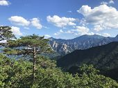 The View To Beautiful Mountains From The High Peak. Seoraksan National Park. South Korea poster