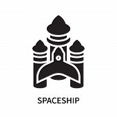 Spaceship Icon Isolated On White Background. Spaceship Icon Simple Sign. Spaceship Icon Trendy And M poster