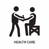 Health Care Icon Isolated On White Background. Health Care Icon Simple Sign. Health Care Icon Trendy poster