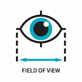 Field Of View Icon Isolated On White Background. Field Of View Icon Simple Sign. Field Of View Icon  poster