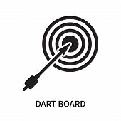 Dart Board Icon Isolated On White Background. Dart Board Icon Simple Sign. Dart Board Icon Trendy An poster