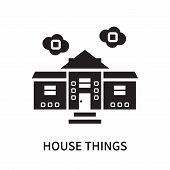 House Things Icon Isolated On White Background. House Things Icon Simple Sign. House Things Icon Tre poster