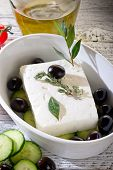 picture of greek food  - feta  traditional greek cheese - JPG