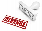 picture of revenge  - REVENGE rubber stamp - JPG