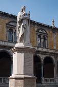 stock photo of alighieri  - Statue of Dante Alighieri medieval author of Divine Comedy - JPG