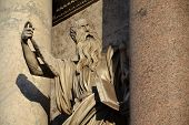 stock photo of apostolic  - Statue of Saint Paul by Francesco Mochi on Porta del Popolo - JPG