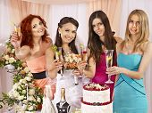 image of hen party  - Group people at hen - JPG