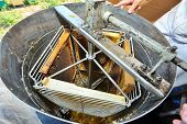 stock photo of ooze  - manufacture of honey processing equipment - JPG