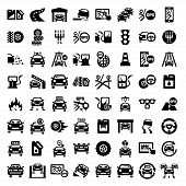 big auto icons set