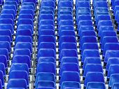 picture of grandstand  - grandstand with blue chairs - JPG
