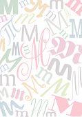 Typo M Pastell poster