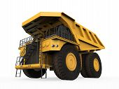 image of dumper  - Yellow Mining Truck isolated on white background - JPG