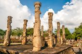 picture of polonnaruwa  - Ruins ancient kingdom of Polonnaruwa in Sri Lanka  - JPG