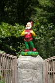 stock photo of  midget elves  - photo of the small gnome sing canto - JPG