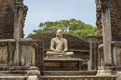 foto of samadhi  - Buddha statue close up in Vatadage ancient city of Polonnaruwa Sri Lanka - JPG