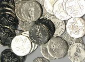stock photo of gandhiji  - coins - JPG