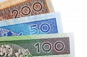 pic of zloty  - Polish colorful banknotes - JPG