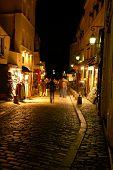 Montmartre By Night, Paris, Portrait poster
