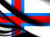 stock photo of faro  - 3D Flag of Faroe Islands - JPG