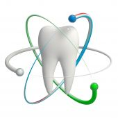 picture of proton  - Herbal and fluoride protection icon of a tooth - JPG